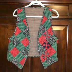 Handmade reversible Christmas vest